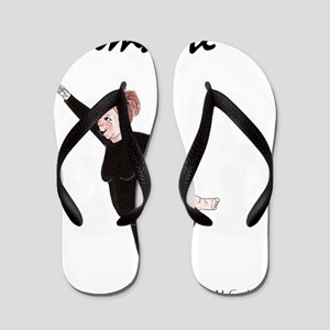 Namaste White Copyright Flip Flops