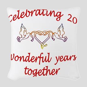 celebrating 20 years  Woven Throw Pillow