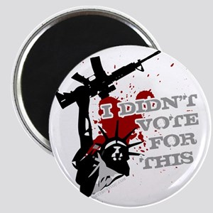 I Didnt Vote For This anti-war protest shir Magnet