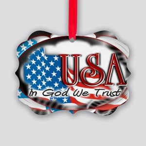 usa in God we trust 002 Picture Ornament