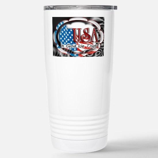 usa in God we trust 002 Stainless Steel Travel Mug