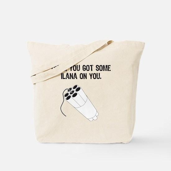 ilana black Tote Bag
