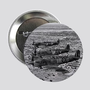 """Spitfire Fighters Over Africa, 1943 2.25"""" Button"""