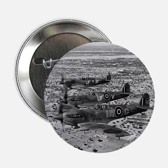 "Spitfire Fighters Over Africa, 1943 2.25"" Button"