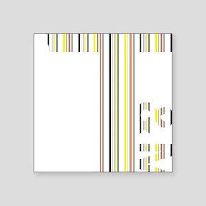 "T Logo - Colour Stripes Square Sticker 3"" x 3"""
