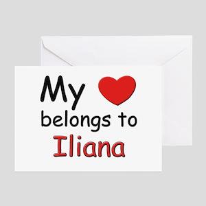 My heart belongs to iliana Greeting Cards (Package