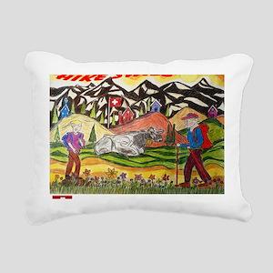 hike swiss small poster Rectangular Canvas Pillow