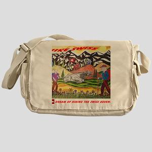 hike swiss small poster Messenger Bag