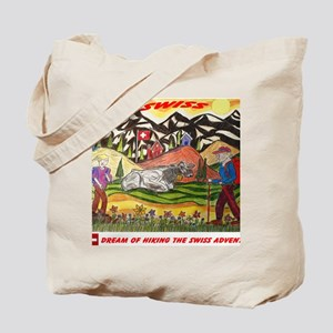 hike swiss small poster Tote Bag