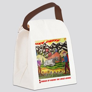 hike swiss small poster Canvas Lunch Bag