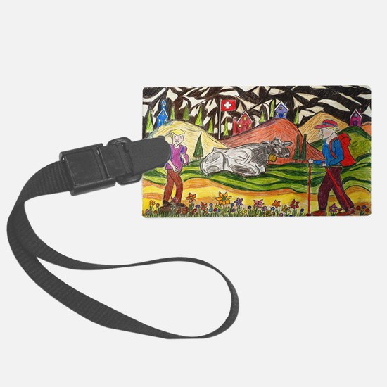 hike swiss small poster Luggage Tag
