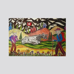 hike swiss small poster Rectangle Magnet
