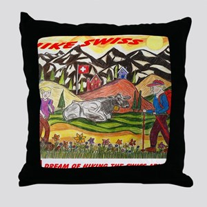 hike swiss small poster Throw Pillow