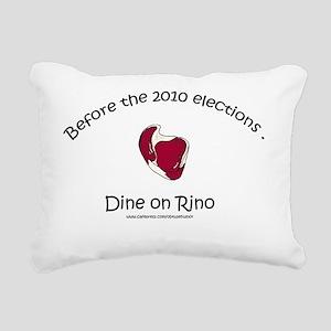 dine on rino4 copy Rectangular Canvas Pillow