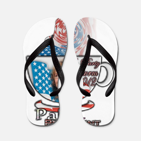 Sarah Palin Tea Party 2012 cup 003 Flip Flops