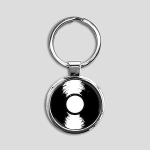 Vinyl Round Keychain