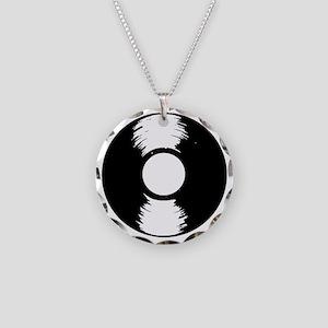 Vinyl Necklace Circle Charm