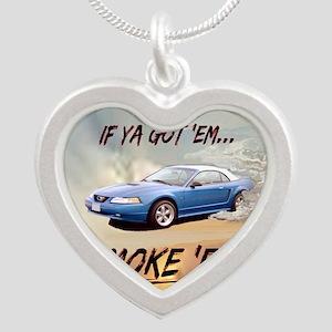 Wandas Mustang(9 x 7.5) Mous Silver Heart Necklace