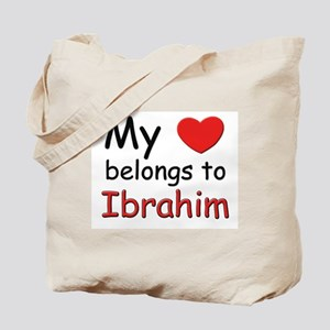 My heart belongs to ibrahim Tote Bag