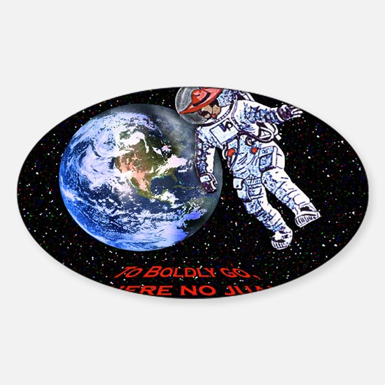 new SPACE JUAN greeting cards Sticker (Oval)