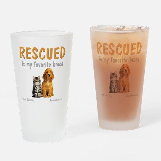 rescued_is_my_favorite_breed_3-tran Drinking Glass