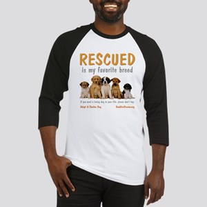 rescued_is_my_favorite_breed_4-tra Baseball Jersey