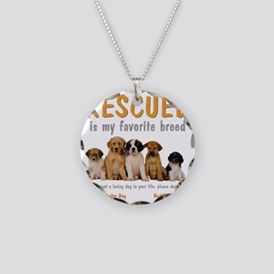rescued_is_my_favorite_breed Necklace Circle Charm