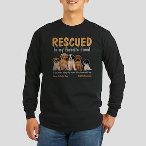 rescued_is_my_favorite_br Long Sleeve Dark T-Shirt