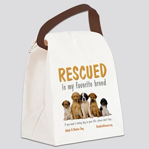 rescued_is_my_favorite_breed_4-tr Canvas Lunch Bag