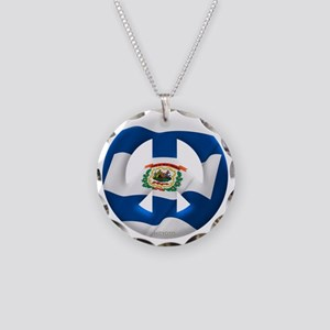 West Virginia Necklace Circle Charm
