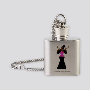 Blessed and Highly Favored Flask Necklace