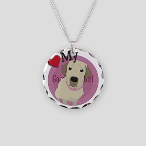 love my girl labrador retrie Necklace Circle Charm