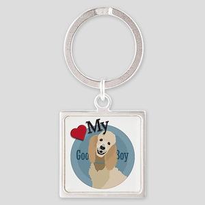 love my boy standard poodle Square Keychain