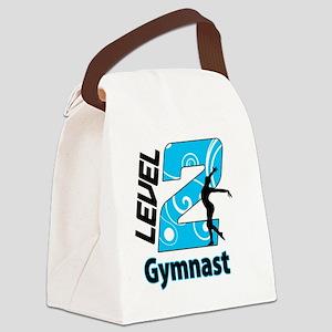 Level_2_Gymnast_Ver1_Blue_bear Canvas Lunch Bag
