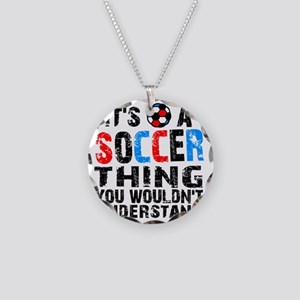 SoccerThing2 Necklace Circle Charm