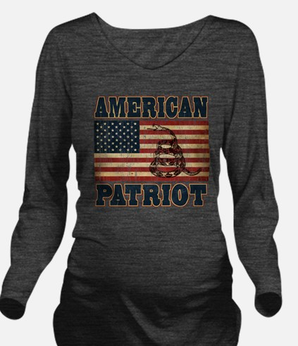 american patriot Long Sleeve Maternity T-Shirt