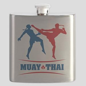 muay thai mma kickboxing martial arts Flask
