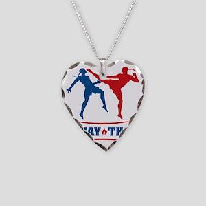 muay thai mma kickboxing mart Necklace Heart Charm