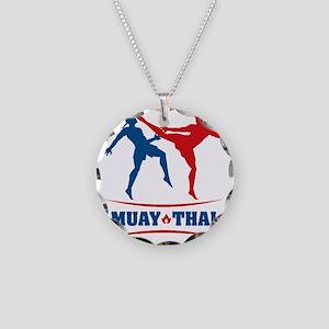 muay thai mma kickboxing mar Necklace Circle Charm