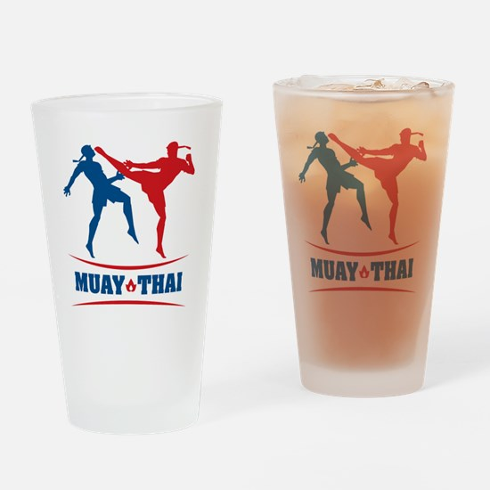 muay thai mma kickboxing martial ar Drinking Glass