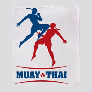 muay thai mma kickboxing martial art Throw Blanket