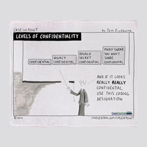 4/12/2010 - Levels of Confidentialit Throw Blanket