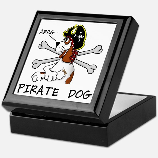 pirate dog Keepsake Box