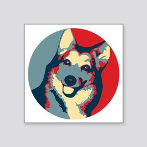 "ONE HAPPY DOG! Square Sticker 3"" x 3"""
