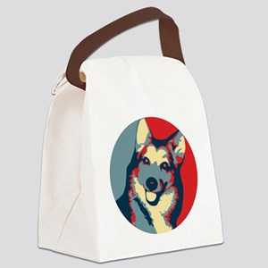 ONE HAPPY DOG! Canvas Lunch Bag