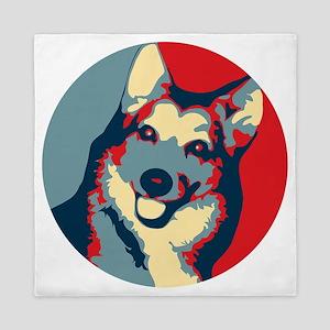 ONE HAPPY DOG! Queen Duvet