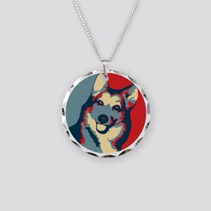 ONE HAPPY DOG! Necklace Circle Charm