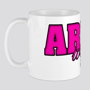 Army Wife hot pink and black copy Mug