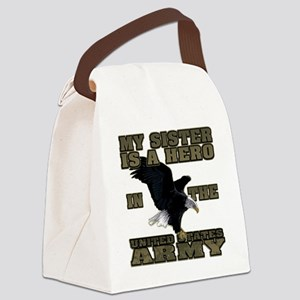 army hero_sister Canvas Lunch Bag
