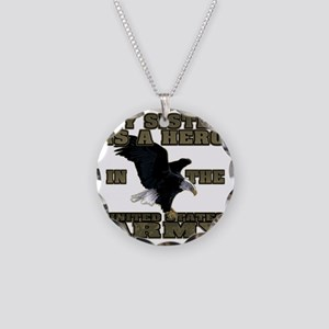 army hero_sister Necklace Circle Charm